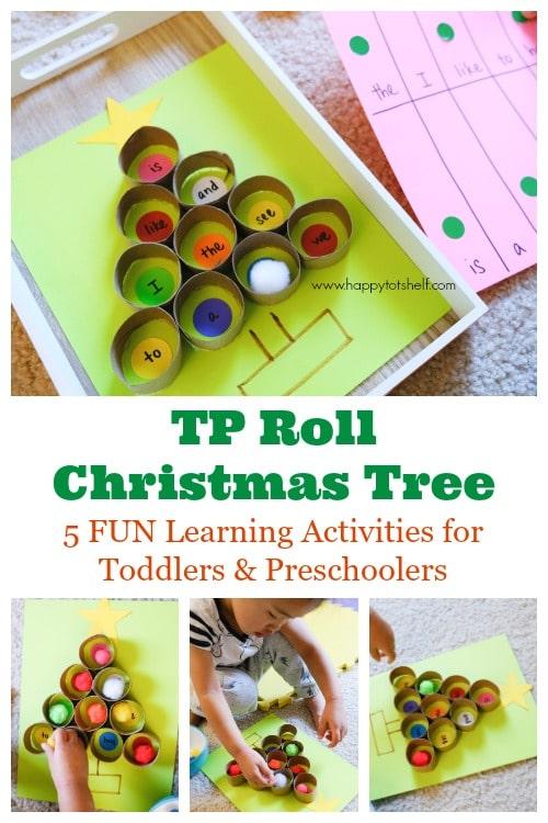 TP roll Christmas tree activity
