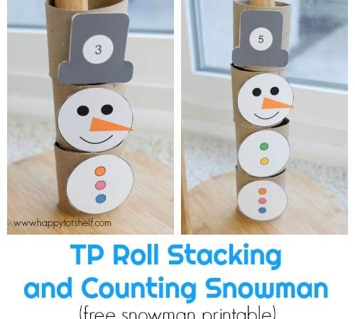 TP Roll Stacking and Counting Snowman