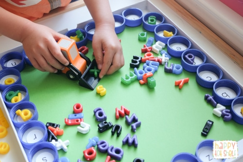 Construction vehicle letter matching
