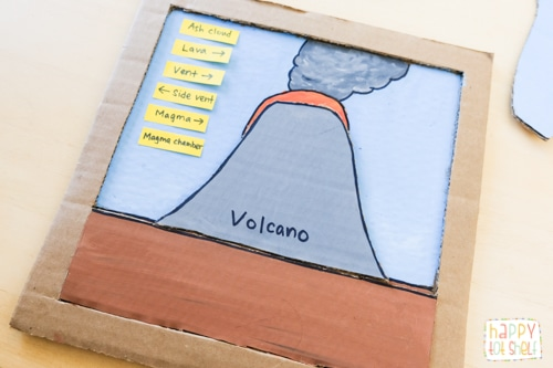 Learn about parts of a Volcano with this DIY puzzle