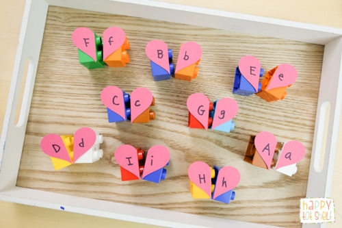 Duplo Hearts Letter Matching