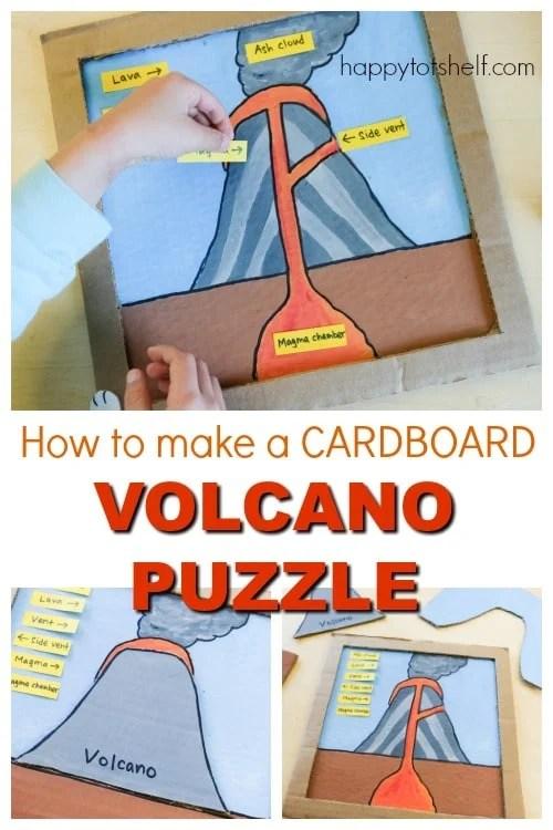 Parts of a Volcano Cardboard Puzzle