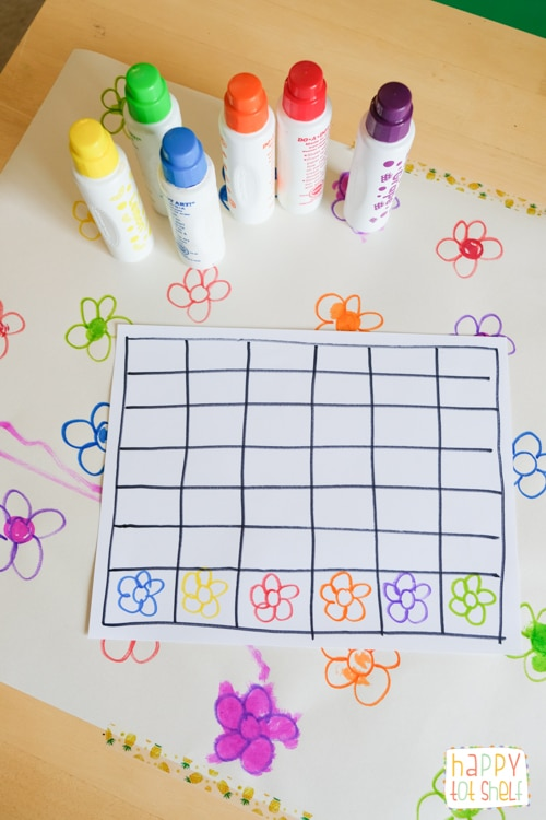 Flower counting and graphing activity
