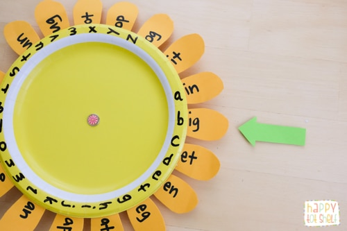Learning with this Word family sunflower learning toy
