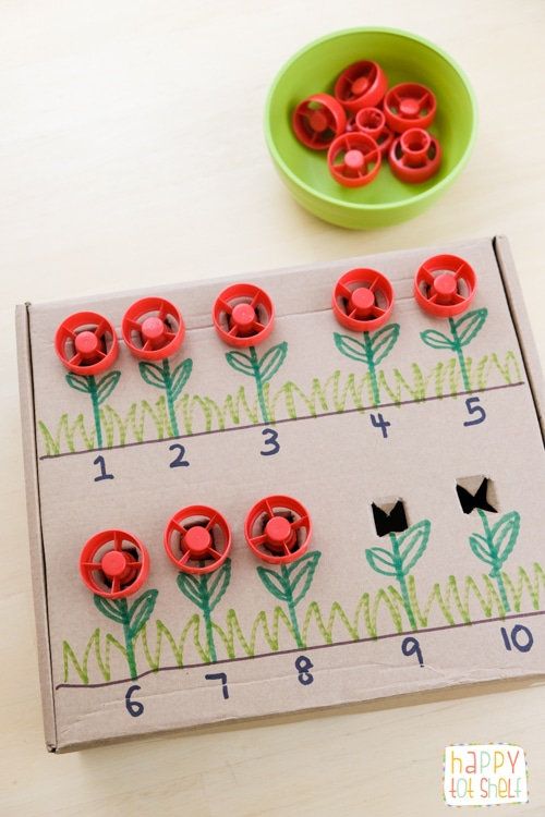 Pouch Cap Flowers Counting Box