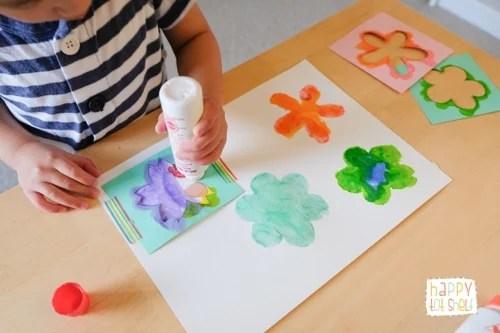Dot Marker Flower Painting- Easy art activity for children