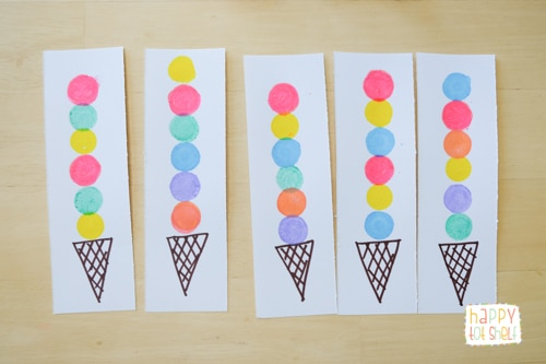 Ice Cream Pattern Cards