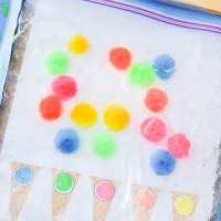 Pompom Ice Cream sensory bag - Absolutely fun 2 in 1 Learning Activity