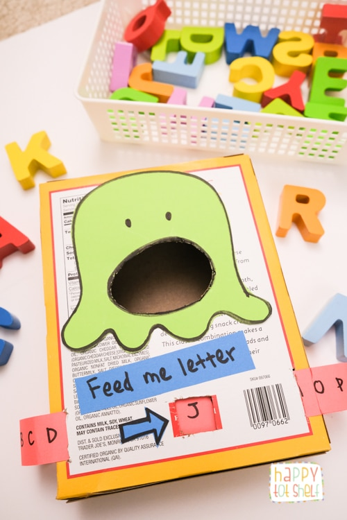 Monster Preschool Letter Matching Activity