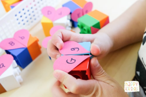 Duplo Activity for Kids to Learn Letters and More