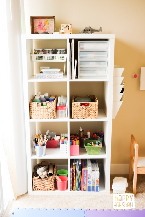 Art shelf for young children