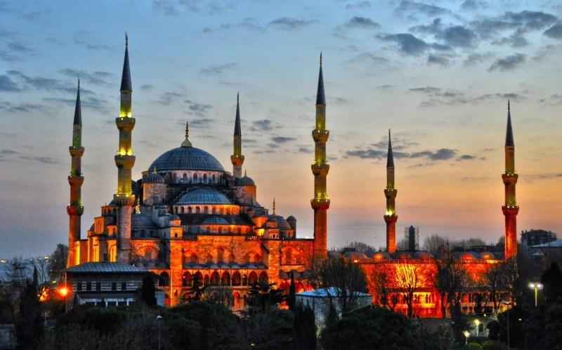 Фото Голубой мечети вечером