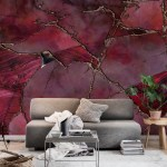 Buy Red Marble Gemstone Luxury Wallpaper Free Us Shipping At Happywall Com
