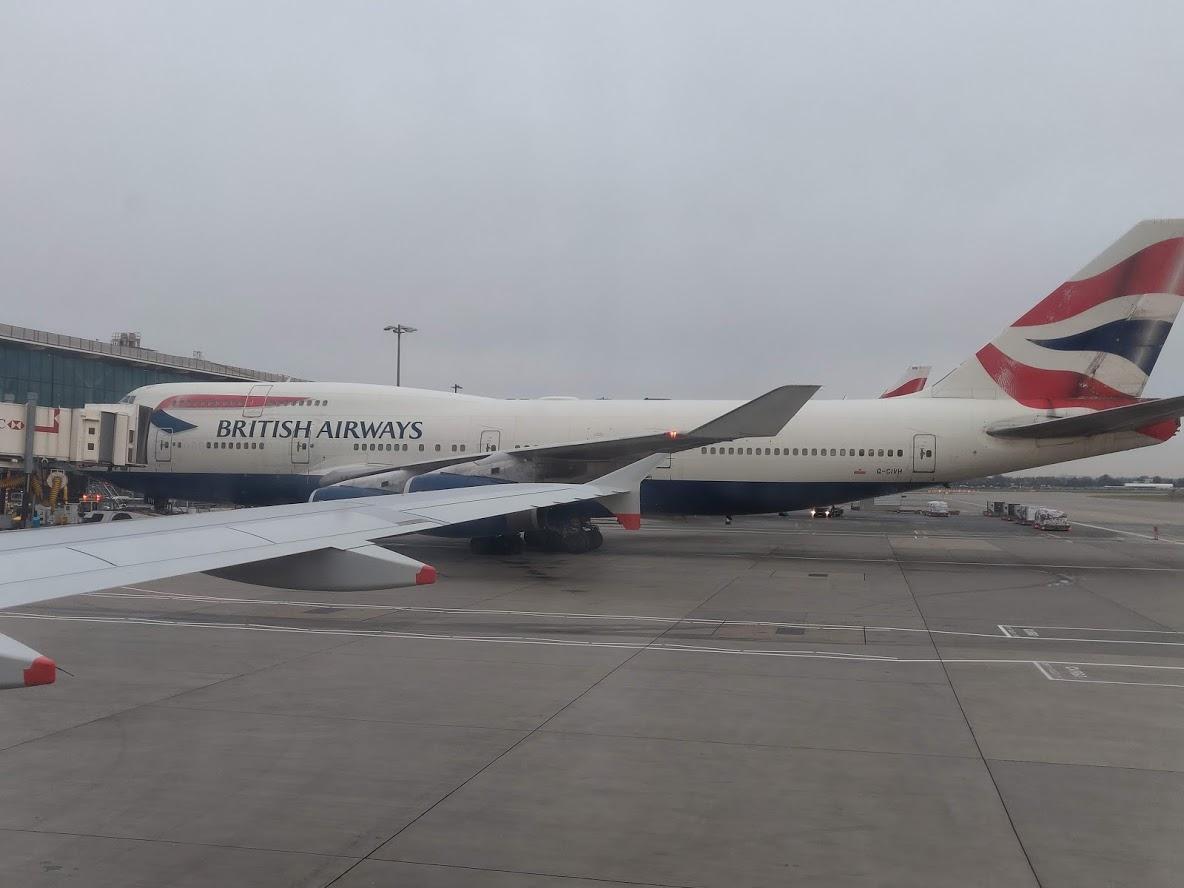 Obligatory BA 747 Picture after landing in British Airways Economy Copenhagen to London