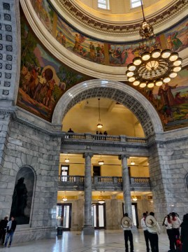 Center of the Utah State Capitol Building