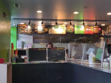 Chedda Burger Entrance and Menu