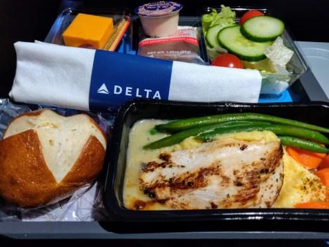 Delta Seattle to Amsterdam Chicken Piccata