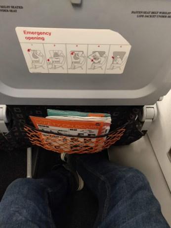 EasyJet Berlin to Copenhagen Extra Legroom Seat