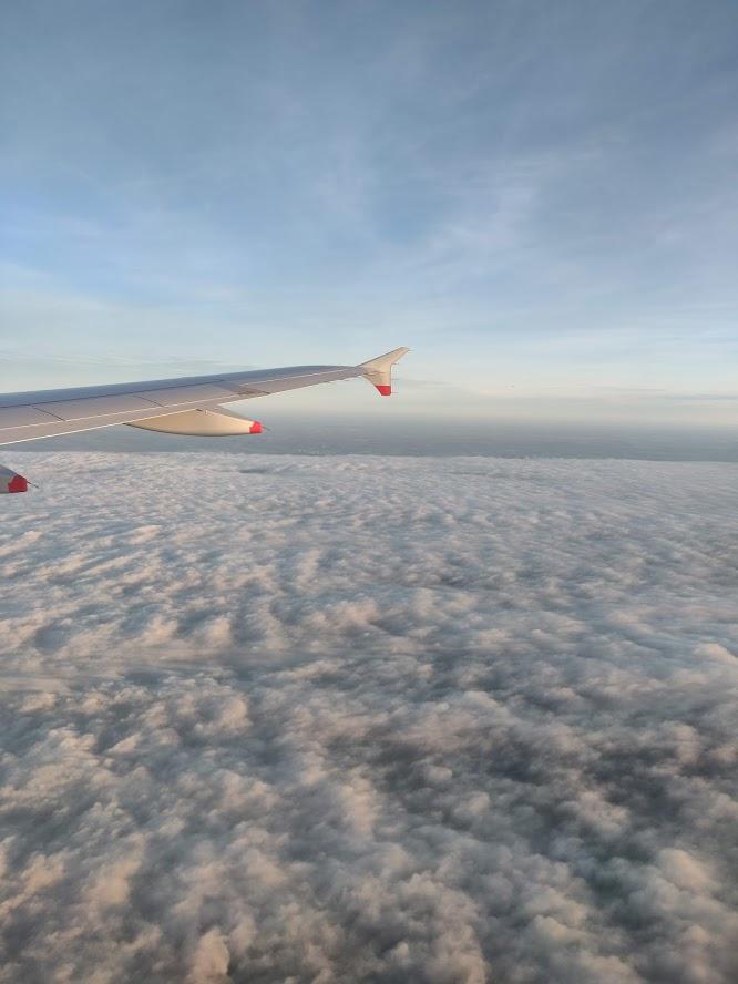 Wing View British Airways Economy Copenhagen to London