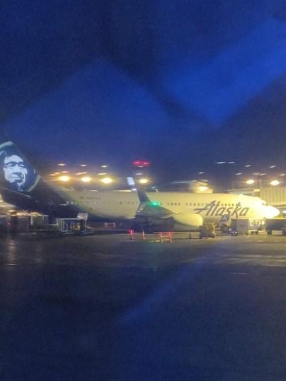 Plane Alaska Economy to New York