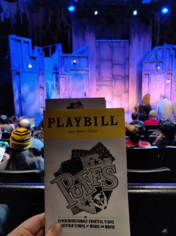 Puffs the Play Playbill and Stage