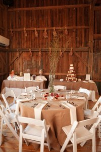 Rustic Country Wedding Table Settings - 9 Wall Decal