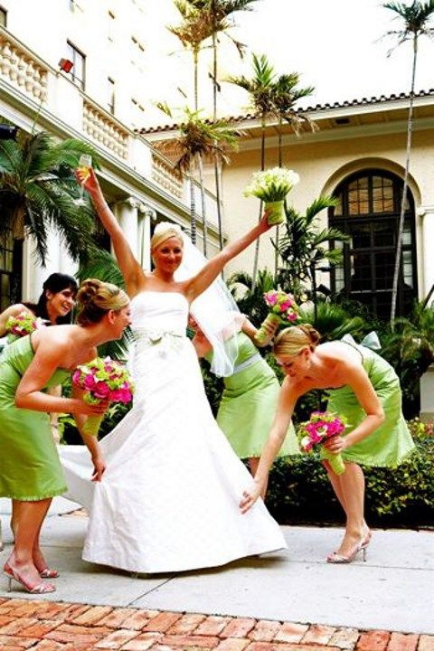 Pink Green Wedding Ideas