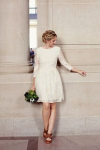 41 Elegant City Hall Bridal Outfits | HappyWedd.com