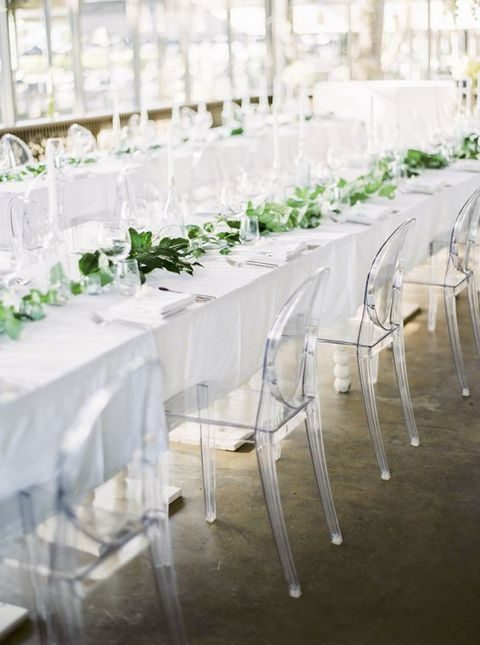 lucite acrylic chairs church chair with kneeler 39 and wedding decor ideas happywedd com will give a modern touch to your