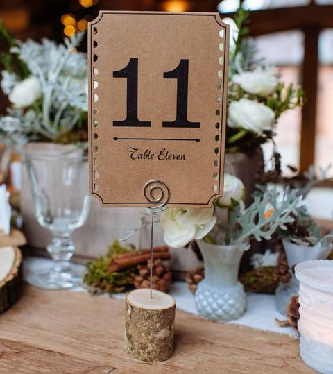 17 Winter Wedding Table Numbers Ideas