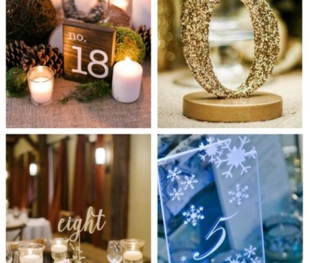 Winter Wedding Table Numbers Ideas