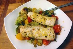 lemon-ginger-mahi-grilled-veggies