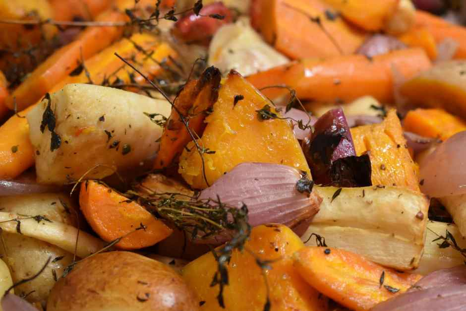 Roasted Root Veggies are Grounding. Photo by Jase Ess, Unsplash.com