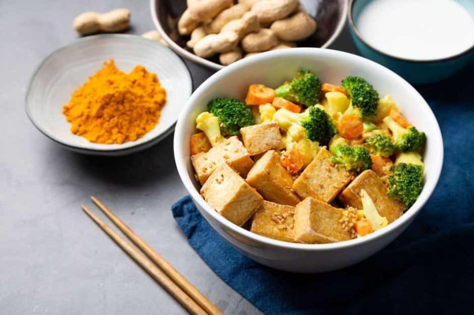 veggie stir fry with tofu