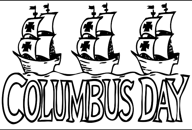 Columbus Day clipart 2020 +  Columbus Day Clipart Black And White