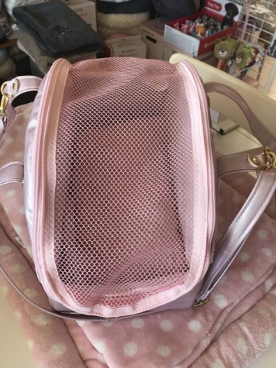 Traveller Bag Trolley peach with Voulant