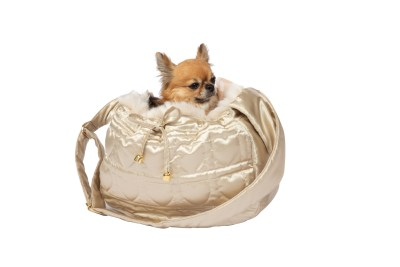 WOW Shoulderbag Gold with Beige fur