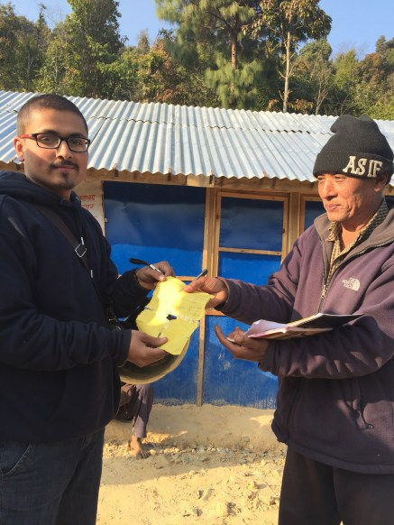 HAPSA-Nepal president Pankaj Bhattarai with HAC leader Tikaram ji