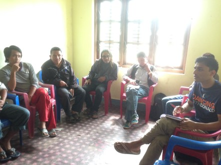 Meeting with the locals about clinic transformation