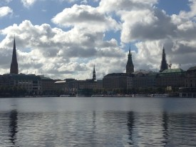 Alster lake at Hamburg City Center