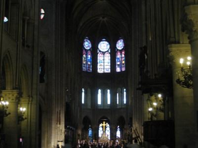 Inside Notre-Dame Cathedral