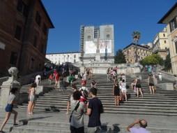 Spanish Steps climbing from Piazza di Spagna to Piazza Trinità dei Monti
