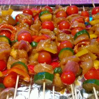 Rainbow Chicken Shashlik