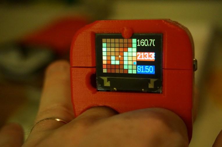 A close up of the camera screen
