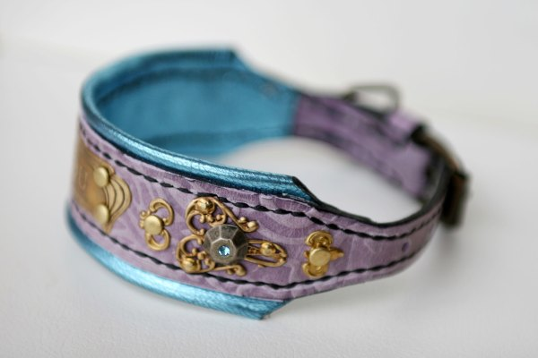 Rococo Personalized Bling Dog Collar - Harakhan Kennel