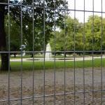 Springbrunnen im Treptower Park am 29.8.2016 - gesperrt