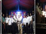 Kanit Binmas Polsek Curug Ipda Ketut Darmika saat memberi himbauan kepada CB J-71 (kiri). Serah terima Jabatan Korwil CB 71 yang lama ke Korwil CB 71 yang baru (tengah). Foto bersama para pengurus CB 71 usai acara serah terima jabatan (kanan).