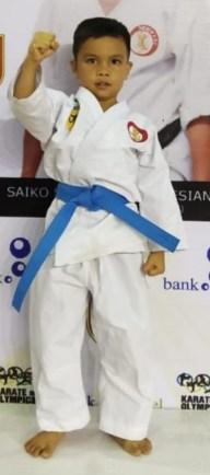 Nur Mufid Teguh Pratama berhasil meraih juara tiga Pra Usia dini dari dua puluh empat Provinsi yang ikut di Bandung.