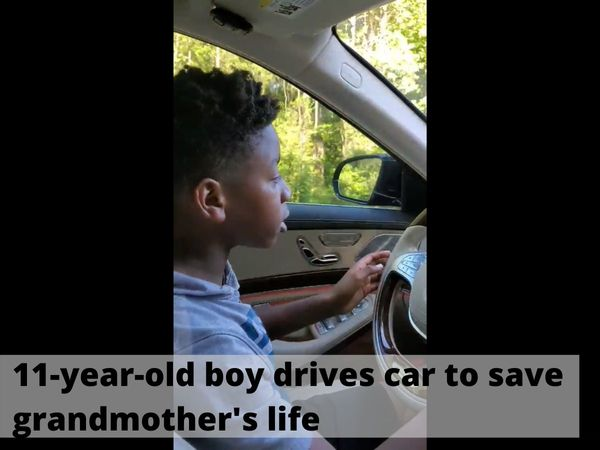 An 11-year-old schoolboy drove a car to save his grandmother's life. | Photo Credit: Facebook