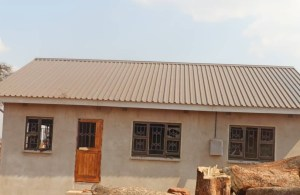 One of the houses before it was demolitioned by the army yesterday